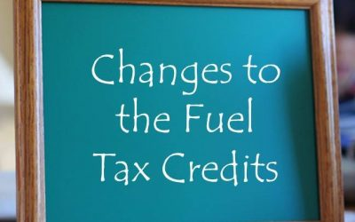 Fuel tax credit rate change
